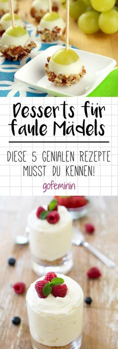 Desserts for lazy girls: 5 ingenious hacks with which you can Desserts für faule Mädels: 5 geniale Hacks, mit denen ihr alle beeindruckt (auch euch!) You like to eat sweets, but don& feel like spending hours in the kitchen? Brunch Recipes, Sweet Recipes, Snack Recipes, Dessert Recipes, Party Desserts, Party Snacks, Dessert Party, Fingers Food, Diy Food