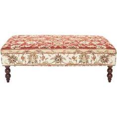 $218 Handmade Rug Burgundy Tabriz Ottoman