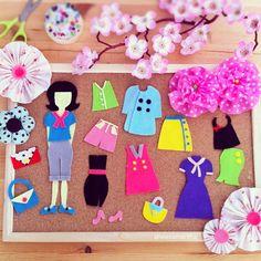 DIY Felt Dress Up Doll- @leesamantha