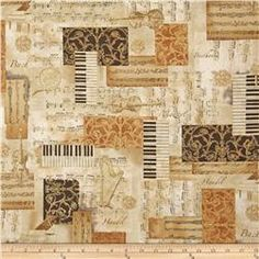 All That Jazz Metatllic Music Collage Gold