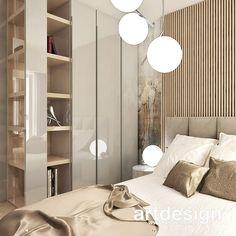 Przytulna sypialnia w ciepłej kolorystyce, z dodatkiem jasnego drewna i dekoracyjną tapetą w formie grafiki ściennej. W takim wnętrzu niestraszne żadne poranki ;) #sypialnia #przytulnewnętrze #wystrójwnętrz #aranżacjewnętrz #homedecor #interiordesign #bedroom #bedroomdecor Stylish Bedroom, First Apartment, Bedroom Inspo, Scandinavian Style, Guest Room, Living Room, Interior, House, Furniture