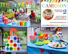 Colorful Rainbow Birthday Party by amandalovelldesign