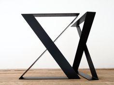 28 H X 24 W X-frame vasta gambe di tavoli in acciaio di Balasagun