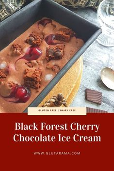 This simple, no churn Black Forest Cherry Chocolate Ice Cream is the luxury chocolate ice cream hits the jackpot as the dessert of your dreams. Made gluten free, dairy free and vegan if you source vegan brownies you will have to make two batches if you plan to share! Self Saucing Chocolate Pudding, Salted Chocolate, Cherry Chocolate Ice Cream Recipe, Dairy Free Brownies, Dairy Free Ice Cream, Luxury Chocolate, Egg Free Recipes, Savoury Baking, Ice Cream Desserts
