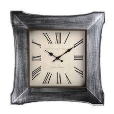 $19.99 Distressed Silver Butterfly Clock | Kirklands