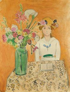 Henri Matisse, La Fille et Blanc et le Bouquet  1919