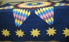 Lone Star Quilt also known as Radiant Star. Free pattern