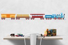 Train clipart digital wall decoration locomotive clip by DigiFrog