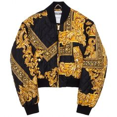 Jacket Moschino ❤ liked on Polyvore featuring outerwear, jackets, bomber style jacket, moschino, quilted bomber jacket, lined bomber jacket and bomber jacket