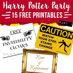 Download 15 free Harry Potter party printables for your next HP themed party!