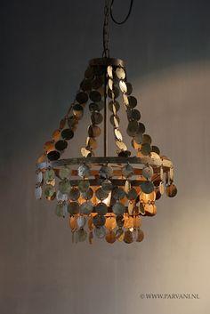 Parvani | Kroonluchter-Hoffz-ijzeren-schijfjes-hanglamp
