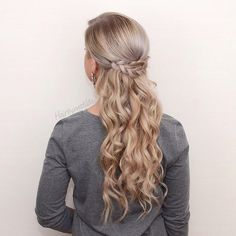 Pinned two braids together at the back of her head. Simple but cute from @hairbymatilda.