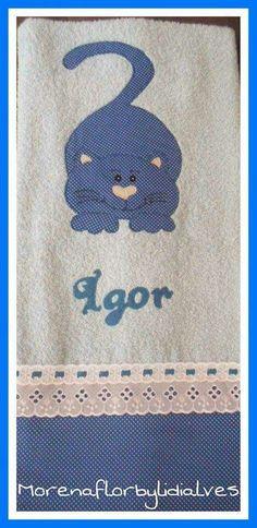 Toalha de banho gatinho blue