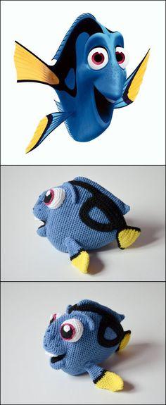 Mesmerizing Crochet an Amigurumi Rabbit Ideas. Lovely Crochet an Amigurumi Rabbit Ideas. Crochet Fish, Cute Crochet, Crochet Animals, Crochet Crafts, Crochet Baby, Yarn Projects, Knitting Projects, Crochet Projects, Crochet Disney