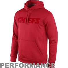 Men's Kansas City Chiefs Nike Charcoal Lockdown Half-Zip Jacket