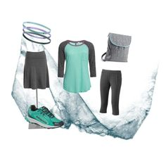 Teal Modest Exercise outfit. With longer skirt!