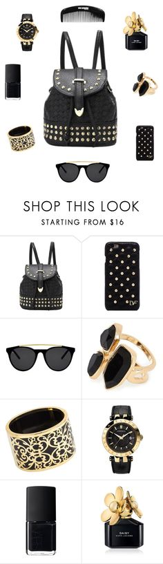 """""""Bags"""" by charlotte-r-k ❤ liked on Polyvore featuring Diane Von Furstenberg, Smoke & Mirrors, River Island, Miriam Salat, Versace, NARS Cosmetics and Marc Jacobs"""