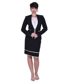 "ebbf15efa8d4 Κομψό και διαχρονικό ταγιέρ με λεπτές εκρού λεπτομέρειες! So chic ❤  spring   springcollection  new  skirt  black  bnw…"""