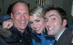 David Tennant with Billie Piper and Shaun Dingwall