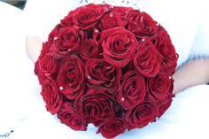 Black Magic roses and Swarovski crystals