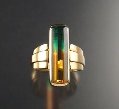 Bi-color tourmaline and 14k gold. ❥ via #martablasco ❥ http://pinterest.com/martablasco/