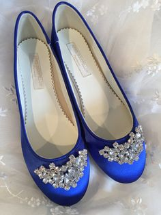 Wedding Shoes Bridal Ballet Flats Cobalt Blue Wedding Flats