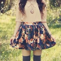 print skirt- mismatched