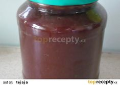 Švestková nutela recept - TopRecepty.cz Whiskey Bottle, Salsa, Jar, Drinks, Food, Gravy, Beverages, Salsa Music, Jars