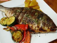 fischi`s cooking and more....: goldbrasse vom grill Salmon, Steak, Grilling, Pork, Chicken, Recipes, Bbc, Grilled Fish, Meat