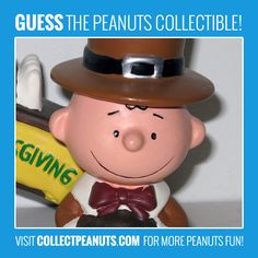 Giving Thanks! Guess the Charlie Brown collectible in today's Peanuts Puzzler! Visit CollectPeanuts.com for the answer.