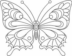 Free Printable Coloring Pages Butterfly from Animal Coloring Pages category. Printable coloring pictures for kids that you can print and color. Have a look at our series and print out the coloring pictures for free. Butterfly Coloring Page, Butterfly Drawing, Butterfly Embroidery, Butterfly Wings, Animal Coloring Pages, Colouring Pages, Coloring Books, Free Coloring, Butterfly Template