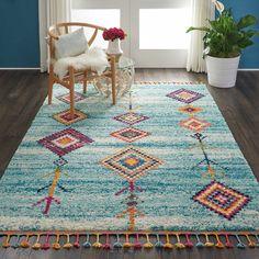 Tribal Decor, Tribal Rug, Ethnic Decor, Bohemian Bedroom Decor, Bohemian Rug, Scandinavian Area Rugs, Aqua Area Rug, Thing 1, At Home Store