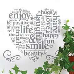 Main Street Wall Creations, Sentiments. Wall Art, Decals, Wall Stickers,  Wall