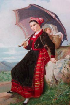 Grabado: Pasiega de Vega de Pas- José Martí y Monsó (Valencia, 1840—Valladolid, 1912)
