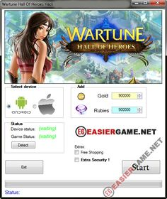 Unlimited Gold, Rubies, in Wartune Hall of Heroes  Download Wartune Hall of Heroes Cheats:  http://easiergame.net/wartune-hall-of-heroes-cheat-hack-ios-android/