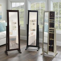 Jewelry storage is made easy with a jewelry armoire! Whether you're looking for standing or wall mounted, Kirkland's has a mirror jewelry armoire for you. Armoires Diy, Body Jewelry Shop, Diy Jewelry, Jewelry Ideas, Design Light, Mirror Jewelry Armoire, Mirror Jewelry Storage, Vintage Design, Closet Storage