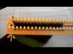 (2) How To Do The Figure 8 Stitch On A Rake (or Straight Loom) - YouTube Loom Knitting Stitches, Loom Knitting Projects, Knitting Videos, Yarn Projects, Knitting Needles, Circle Loom, Giant Knitting, Loom Patterns, Knitted Blankets