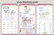 Collection of vivo themes store, one of them is Child Couple Theme itz for Vivo Android Smartphone that will decorate your smartphone screen to be more beautiful and cool. Themes For Mobile, My Themes, Phone Themes, Settings App, New Theme, Android Smartphone, Hello Kitty, Product Launch, Couple