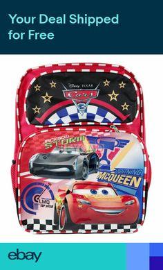 22e026704a4 Disney Cars Lightning McQueen 16 Boys Large School Backpack A11486