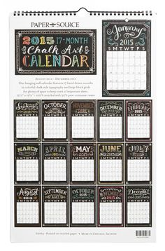 planning 2014-2015 wall calendar  http://rstyle.me/n/mvj2wpdpe
