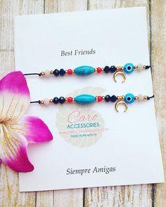 Best friends bracelet set. Siempre amigas juego by CaroAccessories