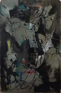 Albert Kotin, Untitled, 1950 Oil on cardboard, 30 x 20 inches