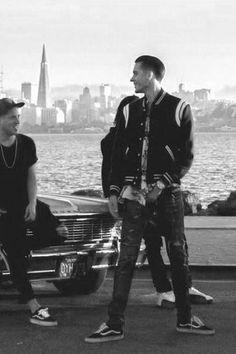 G-Eazy wearing  Saint Laurent Classic Teddy Varsity Jacket, Vans Vans Old Skool