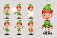 Boy Cute Elf . Postcard