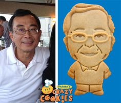 Birthday Ideas for Dad - Edible Party Favors - Custom Cookies - 60th Birthday Event - Make your dad into a cookie -