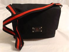 Givenchy Parfums Messenger Bag, Shoulder Bag, carry All Day Bag in Black