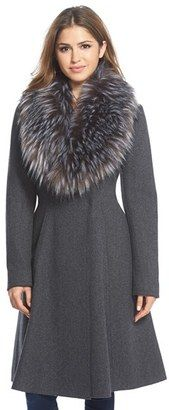 Shop Now - >  https://api.shopstyle.com/action/apiVisitRetailer?id=495643778&pid=2254&pid=uid6996-25233114-59 Women's Vera Wang 'Serena' Faux Fur Collar Wool Blend Fit & Flare Coat  ...
