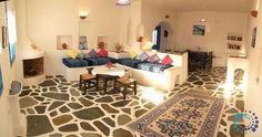 """Welcome to the """"Villa Iolanthe in Paros, Greece. Moroccan Decor, Paros Greece, Building A House, Tiles, Greek, Luxury Villa, Island, Decor Ideas, Home Decor"""