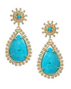 Mariena Earrings in Turquoise - Kendra Scott Jewelry