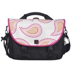 Pink and Orange Paisley Laptop bag